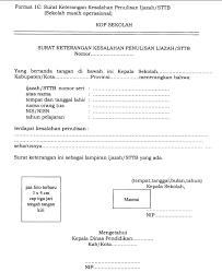 contoh surat pernyataan format a1 format resmi surat keterangan kesalahan penulisan ijazah sttb