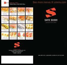 online menu of sato sushi restaurant lancaster california 93536