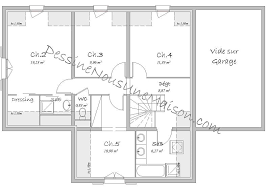 plan etage 4 chambres plans de maisons ou villas avec 5 chambres