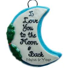you to the moon and back ornament