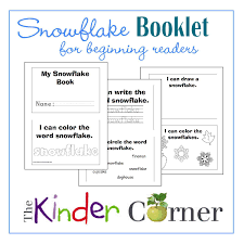 snowflake booklet for early readers the kinder corner