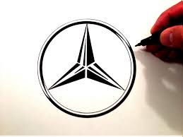 drawn logo mercedes pencil and in color drawn logo mercedes