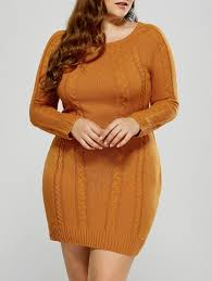 plus size cable knit sweater plus size cable knit sweater dress in mandarin xl sammydress com