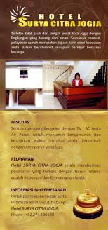 contoh desain brosur hotel hotel surya citra jogja brosur