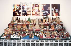 department 56 in the city display