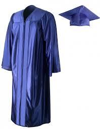 shiny royal blue cap gown graduationsource