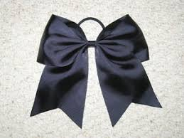 african american cheer hair bows new black cheer bow pony tail 3 inch ribbon girls hair bows