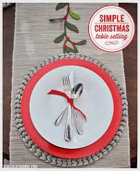 simple christmas table settings simple christmas table setting vicky barone
