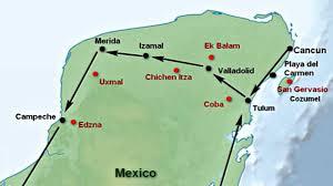 Riviera Maya Map Yucatan Peninsula And Riviera Maya Getting Around Visit All