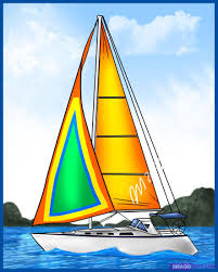how to draw a sailboat step by step boats transportation free