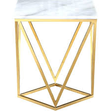 white marble accent table side table gold side tables accent table ls furniture white