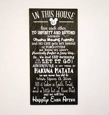 in this house we do disney wooden sign disney sign shabby chic