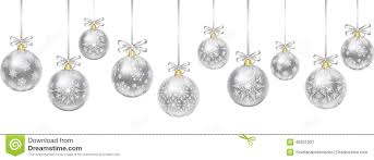 silver baubles stock vector image 46331307