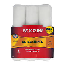 shop paint supplies at lowes com wooster 3 pack 9 in synthetic blend paint roller covers