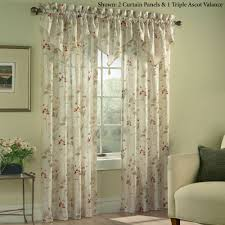 chantelle crinkle sheer voile floral window treatment
