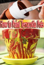 how to paint terracotta pots quiet corner