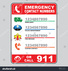 Fire Evacuation Plan For Beauty Salon by Emergency Call Number Sign Ambulance Police Stock Vector 331866707