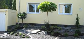 gartengestaltung mit steinen und grsern vorgarten steine