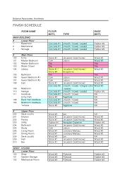 room finish schedule template work stuff pinterest schedule