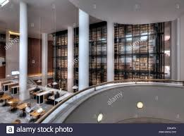 the cafe and reading room of the british library in london with
