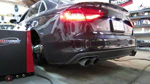 audi s4 exhaust 2013 audi s4 dyno run with awe exhaust res dp s