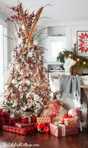 flocked christmas tree flocked ski christmas tree the lilypad cottage