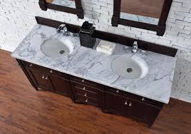 Bathroom Vanities 72 Inches Double Sink by Contemporary 72 Inch Double Sink Bathroom Vanity Mahogany Finish