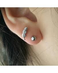 where to buy cartilage earrings savings on feather cartilage stud simple design cartilage
