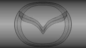 mazda car symbol mazda logo 3d model cgtrader