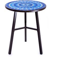 Mosaic Bistro Table Better Homes And Gardens Camrose Farmhouse Blue Mosaic Bistro