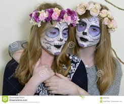 mexican halloween makeup makeup mexican death mask stock photo image 68867296