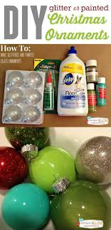 how to make glitter painted glass ornaments clear glass