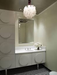 photos hgtv white tile powder room with built in wall shelving