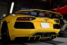 yellow lamborghini bright yellow lamborghini aventador by bond cars osaka rear bumper