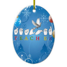sign language ornaments keepsake ornaments zazzle