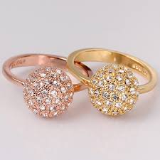 dazzling ring delicate gold ring for