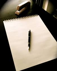 blank paper to write on pen blank paper nith