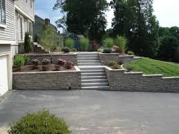 outstanding sloped landscaping ideas for front yard images design