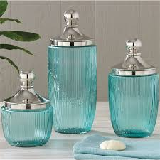 aqua glass kitchen canisters glass kitchen canisters idea