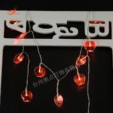 red string lights for bedroom battery operated 10 led red apples fairy string lights wedding