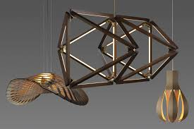 Yale Lighting Concepts Design by Three Whimsical Wooden Pendants Architect Magazine Lighting