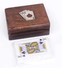 buy home sparkle playing cards with wooden box online at best