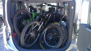 cube cars interior best car for mountain bikers ride more bikes