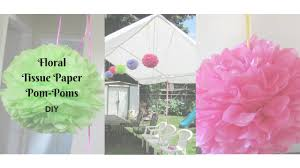 floral tissue paper floral tissue paper pom poms minnie mouse party diy