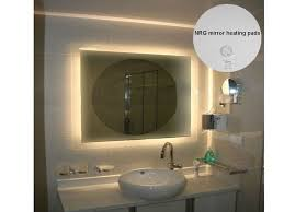 Bathroom Heated Mirror Bathroom Mirrors With Lights And Demister Smartness Ideas Heated