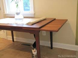 Dining Table With Extension Kitchen Table With Leaf Insert Or Mid Century Dining Table
