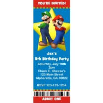custom ticket style invitations personalized party invites
