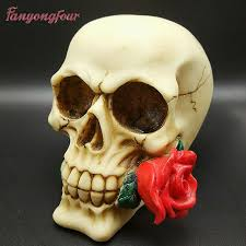 3d skull roses style molding cake decorative