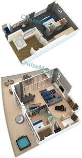 Enchantment Of The Seas Deck Plan 3 by Allure Of The Seas Cabins And Suites Cruisemapper