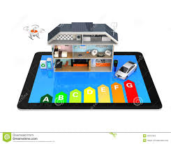 smart house with energy efficient appliances stock photo 45227964